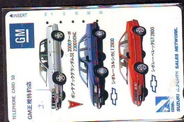 TELEFONKARTE JAPAN * GM (2)   Phonecard  * VOITURE * AUTO * CAR * Telecarte JAPON - Cars
