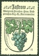"""JASTROW Jastrowie B Marienwerder Kwidzyn 1928 """" Stadtwappen Heraldik Westpreussen """" Vignette Cinderella Reklamemarke - Erinnofilie"""