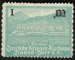 """Schweiz Suisse Davos 1923 """" Für Das Deutsche Krieger-Kurhaus """" Vignette Cinderella Reklamemarke - Erinofilia"""