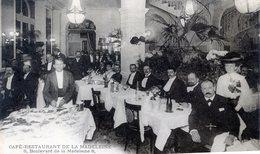 76  PARIS  9e AR   CAFE RESTAURANT DE LA MADELEINE  BD DE LA MADELEINE - District 09