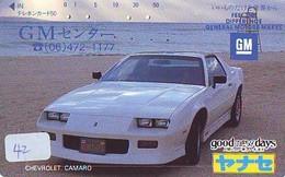 TELEFONKARTE JAPAN * CHEVROLET * (42) Phonecard  * VOITURE * AUTO * CAR * Telecarte JAPON - Cars