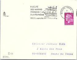 PÊCHE BATEAUX - FIDELITE DES MARINS FRANCAIS A LA POLYNESIE - 1768 BOUGAINVILLE 1968 GROUPE ALFA - 10.8.68 BUR. NAVAL/ 1 - Commemorative Postmarks