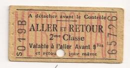 ANCIEN TICKET DE METRO PARIS 2EME  Classe Serie S019B C272 - Métro
