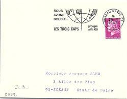 PÊCHE BATEAUX - NOUS AVONS DOUBLE.. LES TROIS CAPS GROUPE ALFA68 - BUREAU NAVAL 24.11.1968 / 1 - Commemorative Postmarks
