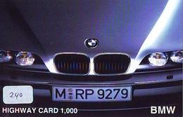 TELEFONKARTE JAPAN * BMW (240) Phonecard  * VOITURE * AUTO * CAR * Telecarte JAPON - Cars