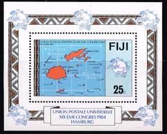 Fidschi 1984, Michel# Block 5 **   U.P.U. (Universal Postal Union), 19th Congress, Hamburg - Fiji (1970-...)