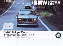 TELEFONKARTE JAPAN * BMW (246) Phonecard  * VOITURE * AUTO * CAR * Telecarte JAPON - Cars