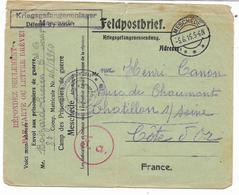 GUERRE WW1- Prisonnier Français Matricule 46/18960- Camp De MESCHEDE Lettre Du 5.6.15 Avec F.a;  Voir Scan - Militaria