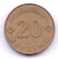 LATVIA 1992: 20 Santimu, KM 22 - Latvia