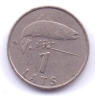 LATVIA 1992: 1 Lats, KM 12 - Latvia