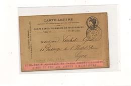 22 NOV 95 CARTE SPÉCIALE DU CORPS EXPÉDITIONNAIRE DE MADAGASCAR - Cartas