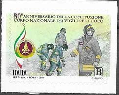 ITALY, 2019, MNH, FIREMEN, 80th ANNIVERSARY OF NATIONAL FIREMEN CORP,  1v - Firemen