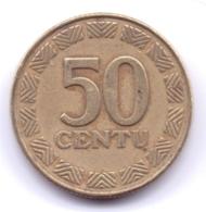 LIETUVA 2000: 50 Centu, KM 108 - Lituanie
