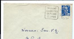 LETTRE De 1952 - MORGAT Finistère > Oblitération DAGUIN - France