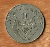 RWANDA / DIX FRANCS / 1974 - Rwanda