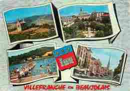 69 - Villefranche Sur Saone - Multivues - Piscine - Automobiles - Blasons - CPM - Voir Scans Recto-Verso - Villefranche-sur-Saone