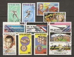 Mali - Poste Aérienne - Petit Lot De 12° - Concorde - Mozart - De Coubertin - Rotary - Lions - Vrac (max 999 Timbres)