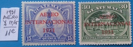 GUATEMALA-1931- Overprint  - 2 Stamp- AERO=MLH -NO GUM- Cat. Yv.=11e - Guatemala