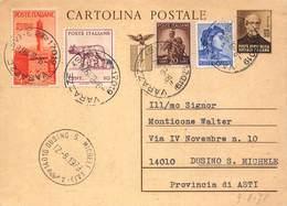 """8109 """"INTERO POSTALE C112-MAZZINI-CENT. 30 BRUNO-AFFRANCATURA AGGIUNTIVA  """" -CART. POST. ORIG. SPED. 1978 - 4. 1944-45 Repubblica Sociale"""