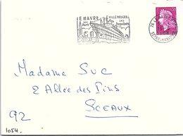 PÊCHE BATEAUX - LE HAVRE - SON PORT SES PAQUEBOTS - 16.8.1968 SEINE MARITIME / 1 - Gedenkstempels