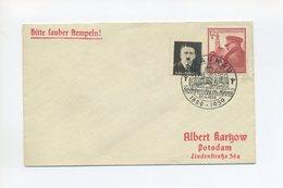 1939 3. Reich Sauberer Brief 50. Geburtstag Hitlers Mi 691 Mit  Propaganda Vignette Hitler Unsere Hoffnung SST Braunau - Covers & Documents