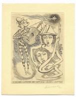 Fokko Mees (Graveur Dessinateur) - Carte De Voeux Pour L' Année 1960 - Gravure Sur Cuivre Signée - Voeux Manuscrits - Documents Historiques