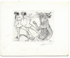 Fokko Mees (Graveur Dessinateur) - Carte De Voeux Pour L' Année 1962 - Gravure Sur Cuivre Signée - Voeux Manuscrits - Documents Historiques