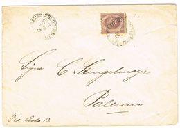 1899 Enveloppe De BORGO  Vers Palermo, Avec 20c Violet-brun (Yv 29) - Lettres & Documents