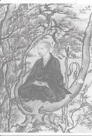 Moine Zen Méditant Dans Les Montagnes - Peinture Attribuée à Jonin, Japon, XIIIe Siècle - Budismo