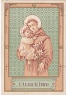 Image Religieuse : Image Pieuse : Saint-antoine De Padoue : Dos Uni Blanc - Images Religieuses