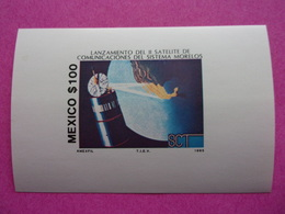 Mexique Mexico Satellite De Communications Et Globe Morelos Messico Mexiko Satélite Satellit Satellitare - Südamerika