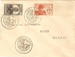 A.O.F. 1945 - Enveloppe FDC De Lomé à MaZagan/Maroc - Journée Du Timbre - Félix Eboué - YT 2/23 - Briefe U. Dokumente