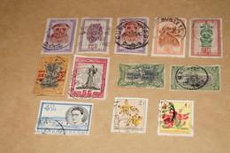 Lot De 12 Timbres Congo Belge,Belles Oblitérations Pour Collection - Congo Belge