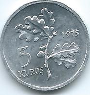 Turkey - 1975 - 5 Kurus - FAO - KM906 - Turquia
