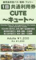 Japan / Japon - Kagoshima - One Day Tram Ticket - Used Ticket 2019 - Wereld