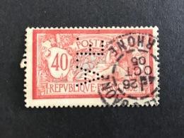FRANCE A N° 119 1900 A.F. 81 Indice 5 Merson Perforé Perforés Perfins Perfin Superbe ! - Gezähnt (Perforiert/Gezähnt)