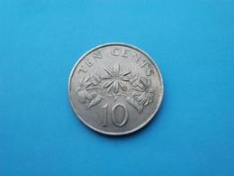 SINGAPOUR   - 10 Cents   1986  -- TTB+   -   SINGAPORE - Singapur