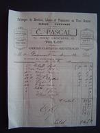FACTURE 1888 : ETS PASCAL - MEUBLES / TOULON ( VAR ) - France