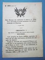 Decreto Regno Italia - Costituzione Comune Villanova In Sezione Di Piacenza 1884 - Vieux Papiers