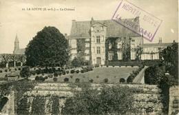 14300 - E Et Loir -  LA LOUPE  : LE  CHATEAU    +  CACHET  HOPITAL  MIXTE  (rare)  Circulée 1915 - La Loupe