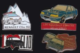 64888 -Lot De 4 Pin's-Renault. - Renault