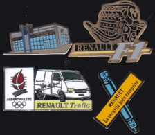 64889 -Lot De 4 Pin's-Renault. - Renault