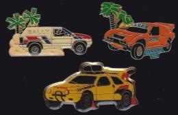 64891 -Lot De 3 Pin's-Rallye Automobile.Dakar. - Rallye