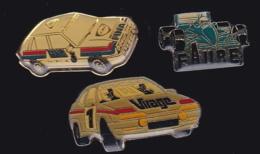 64892 -Lot De 3 Pin's-Rallye Automobile.Virage.faur.fina. - Rallye