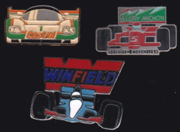 64893 -Lot De 3 Pin's-Rallye Automobile.adelaide.Winfield.Castrol - Rallye