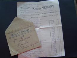FACTURE Timbre Fiscal 1913 : MARIUS VERANY - PEINTRE / TOULON ( VAR ) - 1900 – 1949