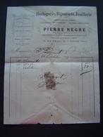 FACTURE Timbre Fiscal 1909 : PIERRE NEGRE - HORLOGERIE BIJOUTERIE / TOULON ( VAR ) - 1900 – 1949