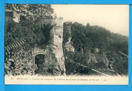 CP, 78, MEULAN, Vestige Des Remparts Du Château Des Comtes De Meulan Partie Sud, Vierge, RARE - Meulan