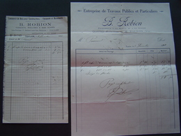 FACTURE 1921 : ETS ROBION / TOULON ( VAR ) - 1900 – 1949