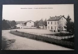 Genouillac. La Gare De Genouillac-Châtelus. - Autres Communes